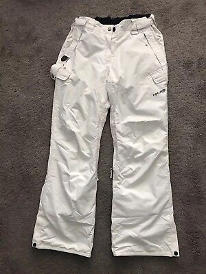 Rip Curl Ladies Ski Pants Trousers White - Size L Large
