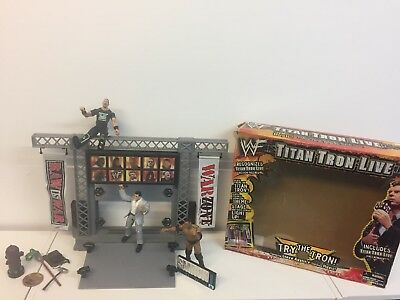 WWF Titan Tron Live Stage (Boxed) plus Figures and Extras