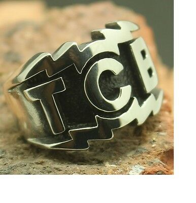 TCB Silver and Black colour Ring