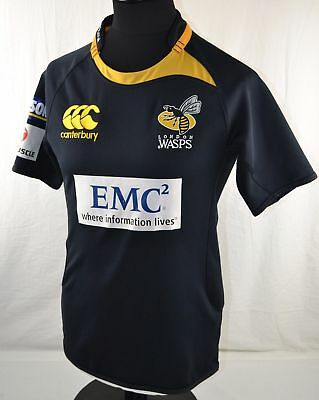 London Wasps Home Rugby Union Shirt   8- 12 YEARS  BOYS  Jersey Black Yellow