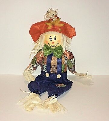Country Halloween Thanksgiving Fall Scarecrow Doll Craft Straw Figure Decoration