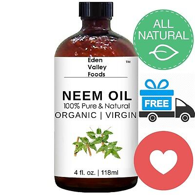 Organic Neem Oil | Cold Pressed 100% Pure Certified Virgin Oil | Insecticide