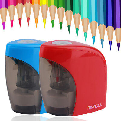 Automatic Blue Red Electric Battery Pencil Sharpener For Office School use IL