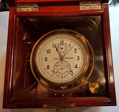 very rare marine chronometer KIROV Ussr box
