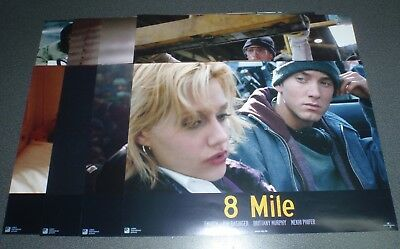 Lobby Card Set - 8 1/4 x 11 : 8 MILE : Emimem Brittany Murphy : Europe Release