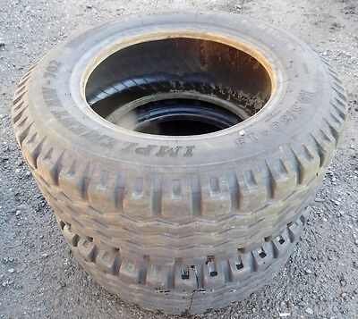 Pair Of Jcb Grass Rear 930 Forklift Tyres 10.5/80/18 Implement Aw-
