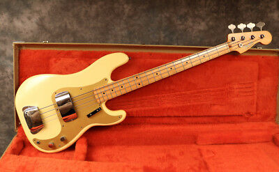 1982 Fender Precision - Fullerton '57 - Blonde - Ohsc - Andy Baxter Bass