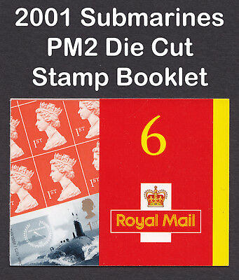 2001 GB Centenary Of Submarine Service Die Cut PM2 Barcode Stamp Booklet CV £95