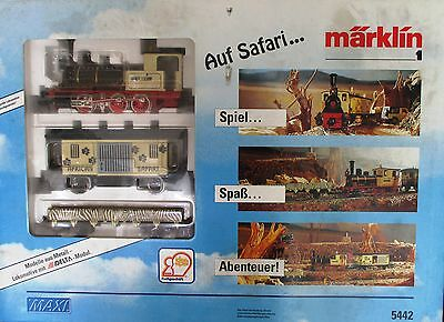 Märklin 5442 Piste 1 Safari Train Locomotive à vapeur Wagon comme