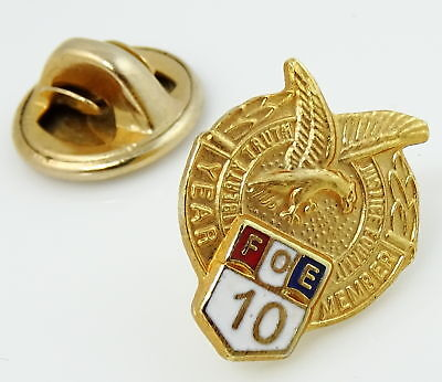 Fraternal Order of Eagles FOE Lapel Pin Year 10