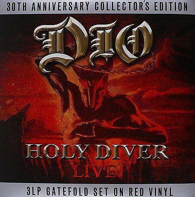 HOLY DIVER DIO 30th ANNIVERSARY COLLECTOR'S EDITION - 3 LP GATEFOLD RED VINYL