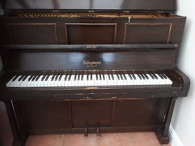 Vintage  piano/pianola - Boyd of London - playable in full with a bit of TLC