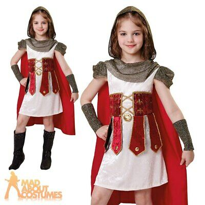 Child Knight Princess Costume Girls Warrior Book Week Day Fancy Dress Outfit