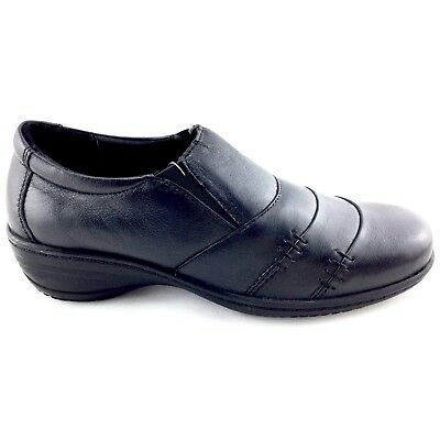 Heavenly Feet Colby High Fronted Leather Shoe Ideal For Work