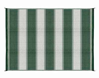 Camco 42870 Reversible Outdoor Mat (6' X 9', Green Stripe)