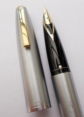 Sheaffer Triumph Imperial 440Xg Brushed Chrome/gt Fp. Inlaid 14K Nib. N/res