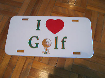 I Love Golf Licence Plate (plastic)