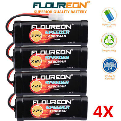4x 7.2V 4500mAh Ni-MH RC Batterie Female-tamiya Pour RC Voiture Camion Drone FPV
