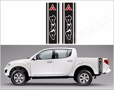 Mitsubishi L200 Truck bed  side racing stripe stickers decals graphics v.3