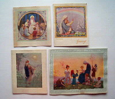 4 x Vintage Folding Greetings Cards - All by Artist Margaret Tarrant  *