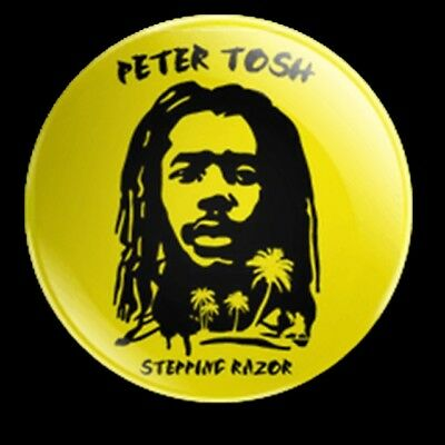 Peter Tosh Stepping Razor 25Mm Badge Classic Reggae The Wailers