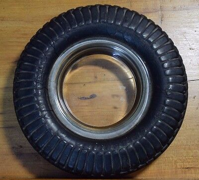 "Seiberling All Tread Made In Canada 6.5"" Hard Rubber Tire Ashtray  Advertising"