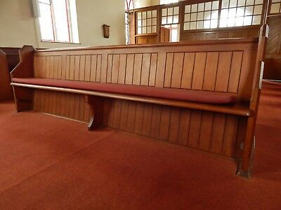 "~~~Old Pine Vintage Antique Church Pew - circa 1928 - 9'6"" long~~~"