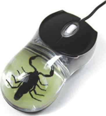 Glow in the Dark Black Scorpion: Computer Mouse