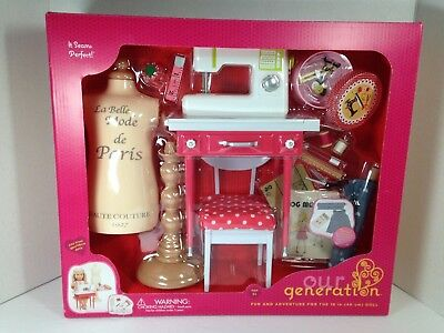 Our Generation It Sews Perfect Sewing Machine Set for 18 inch dolls Like AG