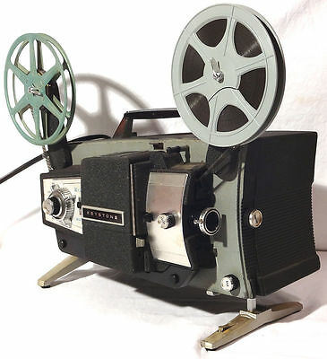 Keystone Automatic K-204 VARIABLE SPEED 8mm Movie Projector - ART DECO Vtg 1950s