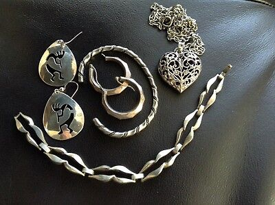 Nice Lot Of Vintage Sterling Silver Jewelry- Over 2 Oz.