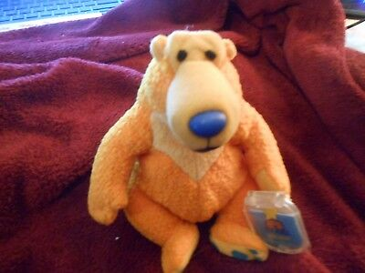 "Mattel/Jim Henson 8"" Bear in the big blue house beanie /plush 1999 BNWPT"