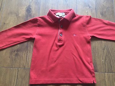 Baby Boy Burberry Polo Jumper 18 Months