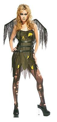 RUBIE'S Womens TINKERSPELL EVIL FAIRY Winged Halloween Costume Size 12 Standard