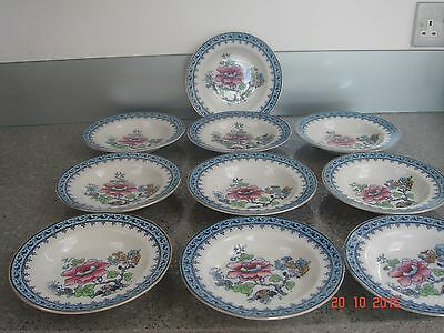 Vintage Losol Ware 10 Fruit Dishes Immaculate