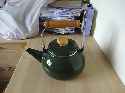Enamel Kettle Display Prop Kitchenalia Camper Van AGA