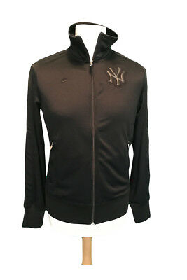 New York Yankees Womens MLB Bronx Bombers Black Full Zip Training Jacket