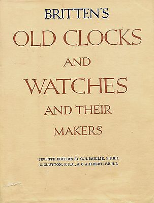 Antique Watches Clock - History Types Makers Dates / Scarce In-Depth Book