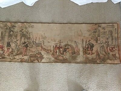 """Anique Needle point Tapestry 56"""" X 19"""""""
