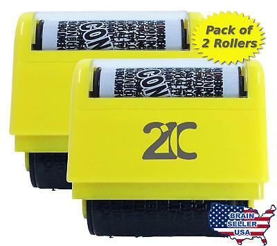 21C Identity Theft Protection Roller Stamp (2 Pack) ID Security Stamp 1.5 Inch W
