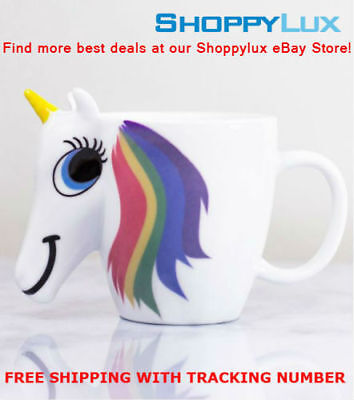 Original 3D Color Changing Temperature Unicorn Ceramic Mug Multi Colour Hot Cup