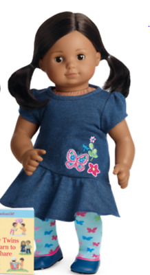 American Girl Bitty Twin Brown Parted Hair, Brown Skin 1 GIRL Doll NRFB NEW
