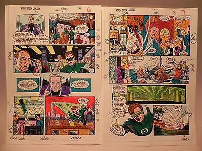 Vintage/action/green Lantern/mind/over Ma/1988 Dc/color/guide Production Art Pg6