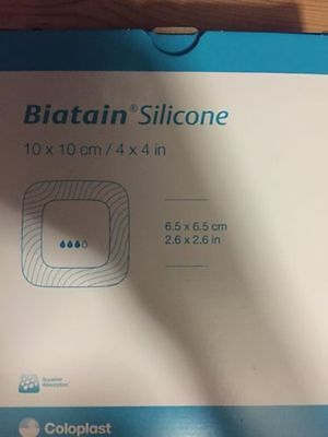 Biatain silicone- adhesive 10x10 Pack of 5 Wound Dressings