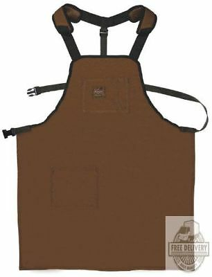 Denim Shop Apron Utility Canvas Work Clothing Farmer Grilling Wood Kitchen Men