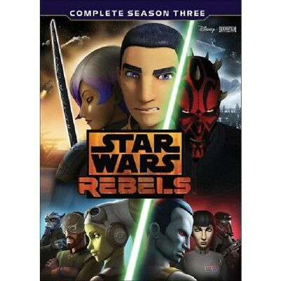 Star Wars Rebels: The Complete Season 3 (DVD, 2017) New w/ Slipcover FREE Ship!