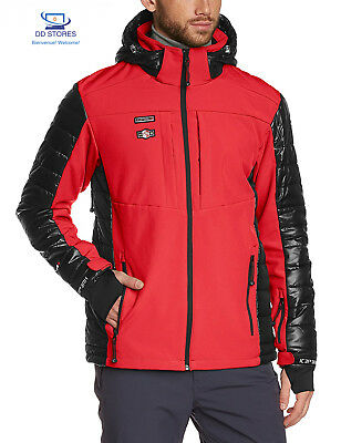 ICEPEAK, Giacca Softshell Uomo Cale, Rosso (Rot-Anthrazit), XXL
