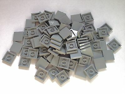 100 Authentic Lego City 2x2 Tiles Smooth *NEW in Light Bluish Grey Part No. 3068