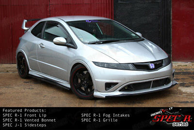 Aerokit R1 Bonnet Vented Hood Civic Type R FN2 FK FN white