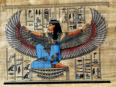 Egyptian Hand-painted Papyrus - Isis - Goddess of health, marriage, and wisdom